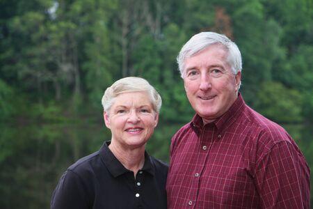 Senior couple enjoying the outdoors Stock Photo - 13301603
