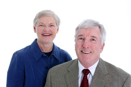 Senior Couple Set Against A White Background Stock Photo - 13297395