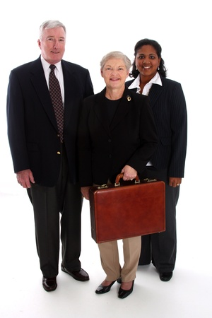 Business team working together in their office Stock Photo - 13301886