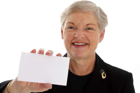 Senior businesswoman on a white background Stock Photo - 13302170