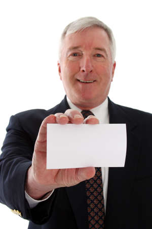 Senior business man on a white background Stock Photo - 13302081