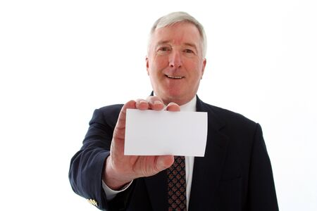 Senior business man on a white background Stock Photo - 13293345