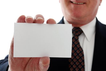 Senior business man on a white background Stock Photo - 13301906