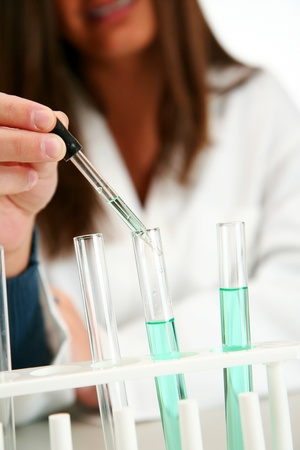 biologist: Worker in a lab Stock Photo