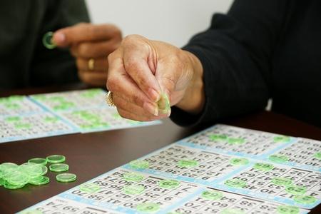 bingo: Jugar Bingo Foto de archivo