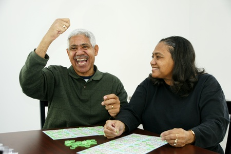 minority couple: Playing Bingo