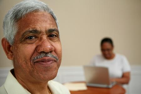 Senior man in an office photo