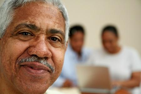 Senior man in an office