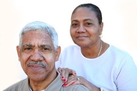 couple mixte: Quelques minorit�s sur un fond blanc Banque d'images