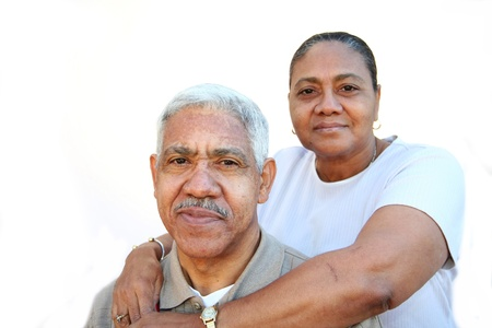 minority couple: Minority couple set against a white background