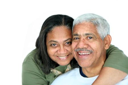 Minority coppia su uno sfondo bianco