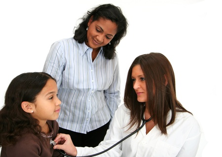 healthcare office: Hispanic child at the doctor