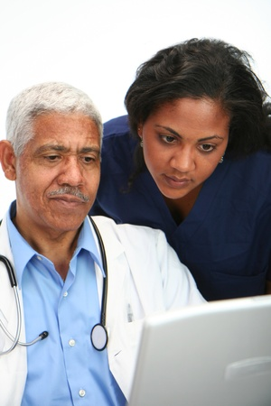 Minority doctor set on white background Stock Photo - 13411901