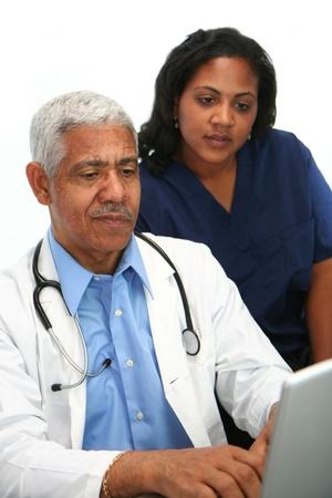 Minority doctor set on white background Stock Photo - 13412386