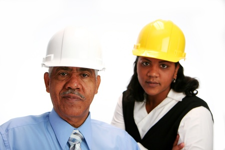 female construction worker: Construction worker on the job Stock Photo