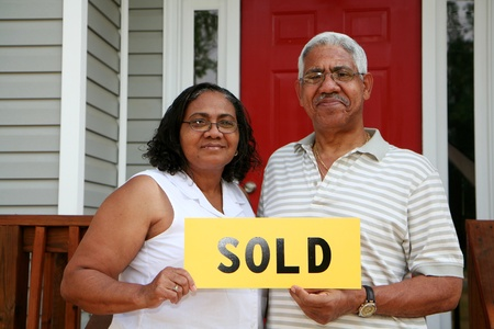 Minority couple selling their home photo