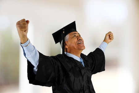 Senior citizen who has graduated from school Stock Photo - 13399659