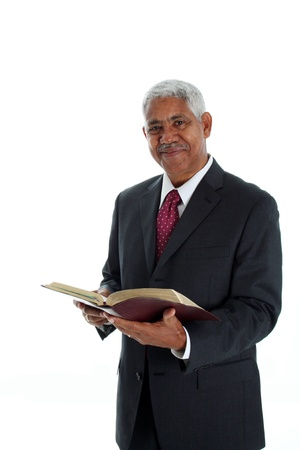 Pastor de las Minorías sobre un fondo blanco Foto de archivo - 13412622