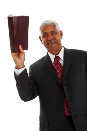 Minority pastor set on a white background Stock Photo