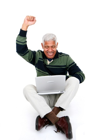 Minority man set against a white background Stock Photo - 13413094
