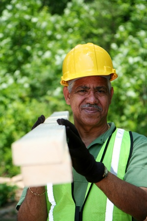 Construction worker on the job Banco de Imagens