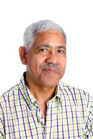 Senior Minority Man Set On A White Background photo