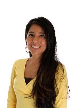 native american woman: woman set on a white background