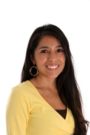 american native: woman set on a white background