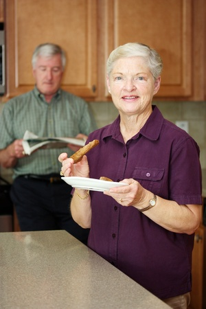 Senior Couple Living Together In Their Home photo