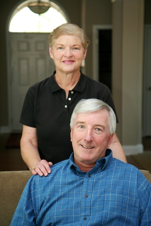 Senior couple together in their home Stock Photo - 13408649