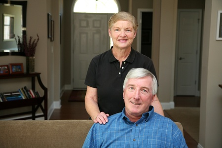 Senior couple together in their home Stock Photo - 13409049