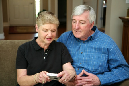 Senior couple together in their home Stock Photo - 13409182