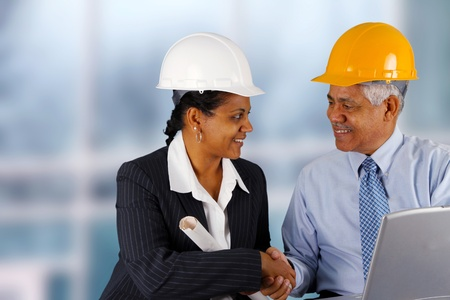 Construction workers working on a job together Stock Photo - 13399311