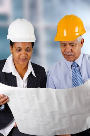 Construction workers working on a job together Stock Photo - 13399103