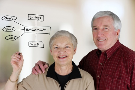pensions: A married couple planning their retirement life