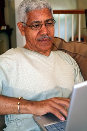 Man on Computer photo