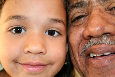 Grandfather and Granddaughter photo