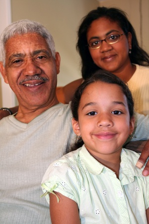 Grandfather, Daughter, and Child photo