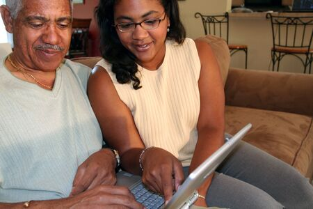 citizens: Father and Daughter on Computer