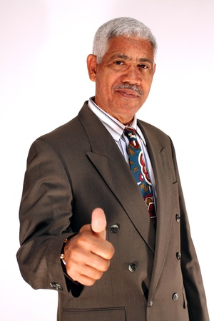 thumb's up: Businessman Thumbs Up Stock Photo