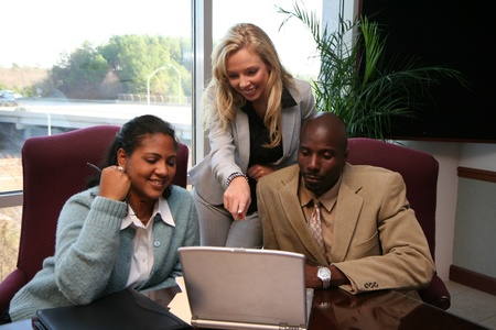 Business team working on a project for work Stock Photo - 13408962