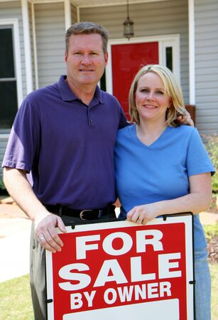 Couple selling their home Banco de Imagens