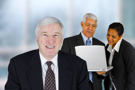 minority: Business team working on a project in their office