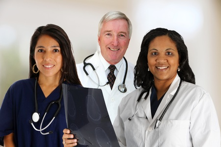 A Doctor and Nurse Team set in their office photo