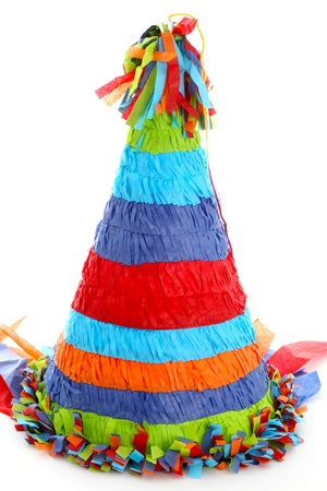 Colorful Piñata Isolated On A White Background photo