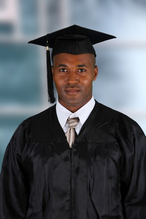 African American Man Graduating From His School Stock Photo - 13459662