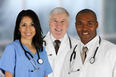 Group of doctors and nurses set in a hospital Stock Photo - 13542250