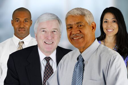 Business Team of Mixed Races at Office Stock Photo - 13617636