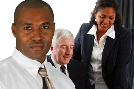 Business Team of Mixed Races at Office Stock Photo - 13617624