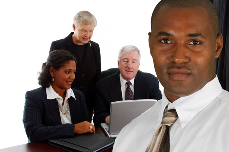 Business Team of Mixed Races at Office Stock Photo - 13617623